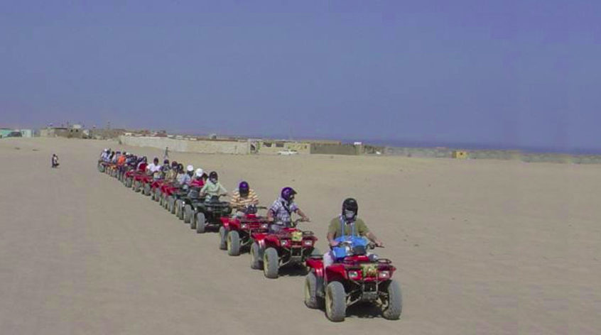 Moto safari on the quads - 5 hours trip from Hurghada